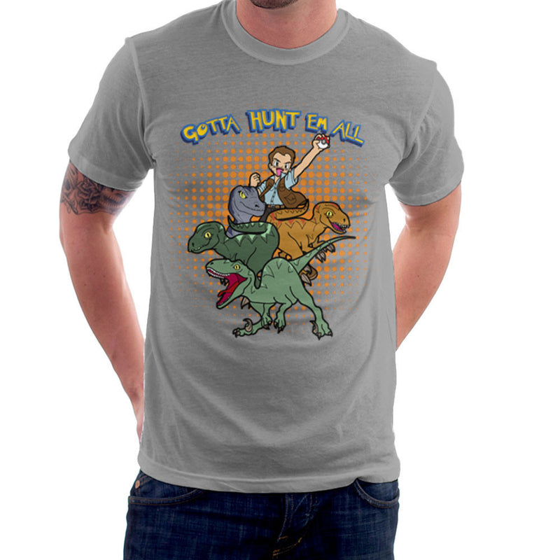 Gotta Hunt Them All Owen Jurassic World Velociraptor Pokemon Men's T-Shirt by TopNotchy - Cloud City 7