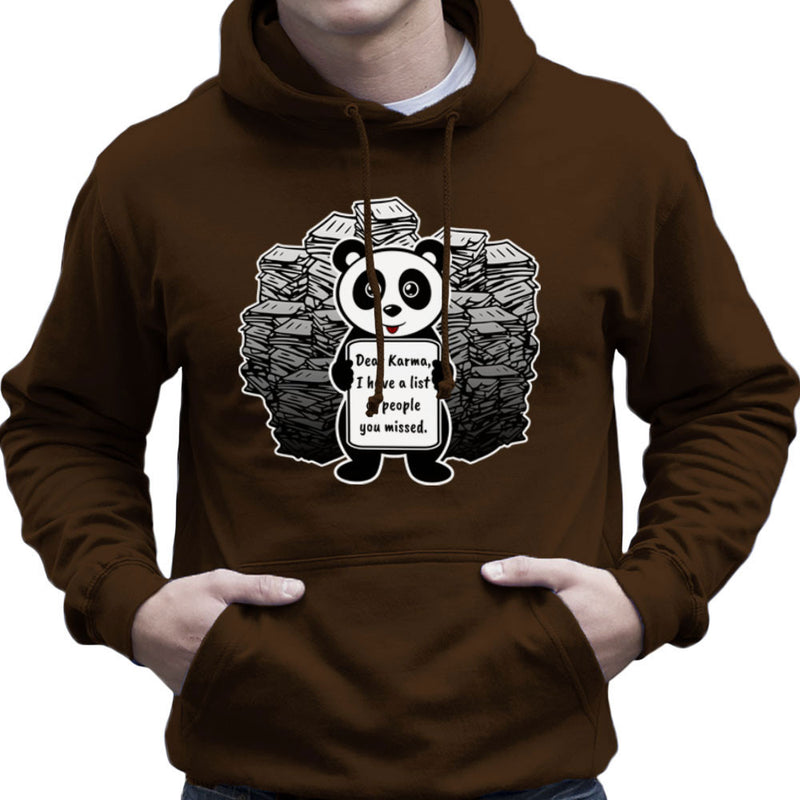 Dear Karma Panda Men's Hooded Sweatshirt by Kempo24 - Cloud City 7