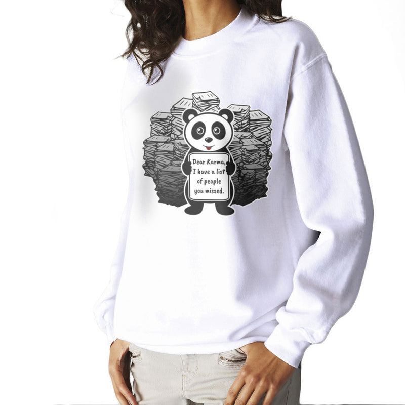 Dear Karma Panda Women's Sweatshirt by Kempo24 - Cloud City 7