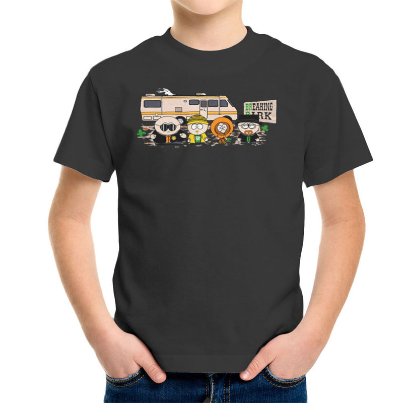 Breaking Park Bad South Kyle Heisenberg Cartman Hank Stan Jesse Kenny Tortuga Kid's T-Shirt by Donnie - Cloud City 7