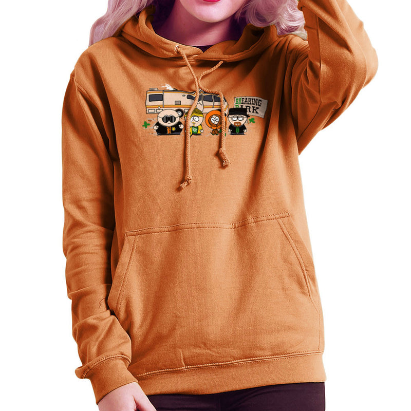 Breaking Park Bad South Kyle Heisenberg Cartman Hank Stan Jesse Kenny Tortuga Women's Hooded Sweatshirt by Donnie - Cloud City 7