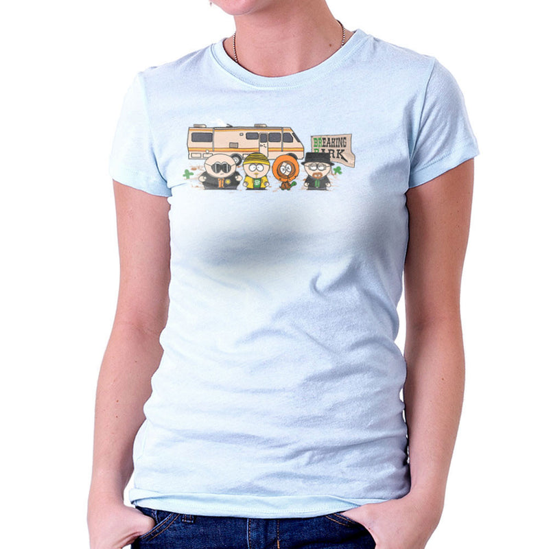 Breaking Park Bad South Kyle Heisenberg Cartman Hank Stan Jesse Kenny Tortuga Women's T-Shirt by Donnie - Cloud City 7