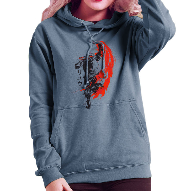 7a5ce04e21a7 ... Traditional Fighter Ryu Street Fighter Women s Hooded Sweatshirt by  Donnie - Cloud City 7 ...