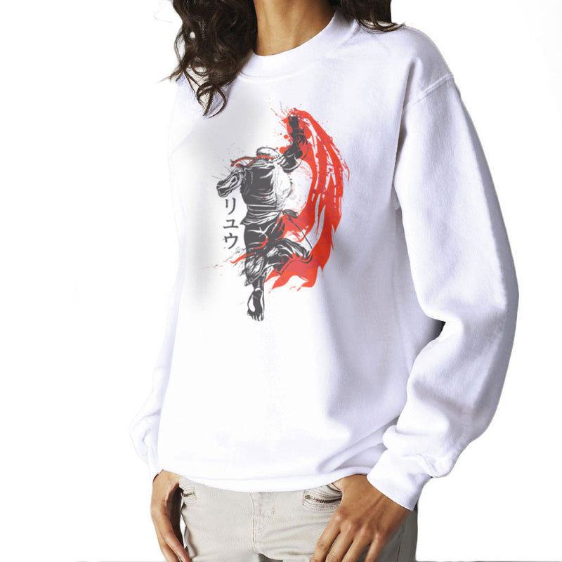 66265145365a Traditional Fighter Ryu Street Fighter Women s Sweatshirt by Donnie - Cloud  City 7 ...