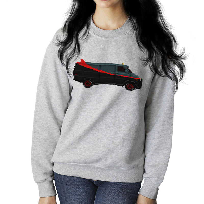 A Team Pixel Van GMC Vandura Women's Sweatshirt by Pixel Faces - Cloud City 7