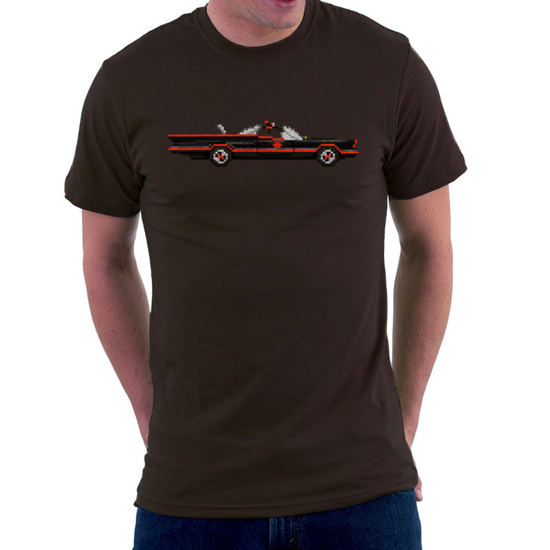 Batmobile Lincoln Futura Pixel Car 1966 Tv Show Men's T-Shirt by Pixel Faces - Cloud City 7