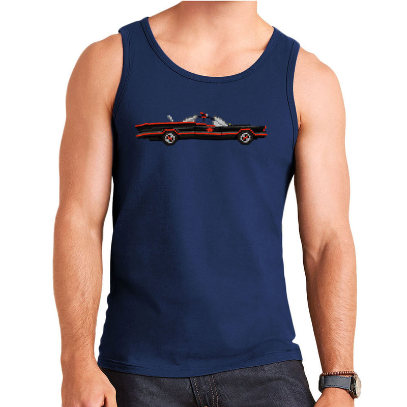 Batmobile Lincoln Futura Pixel Car 1966 Tv Show Men's Vest by Pixel Faces - Cloud City 7