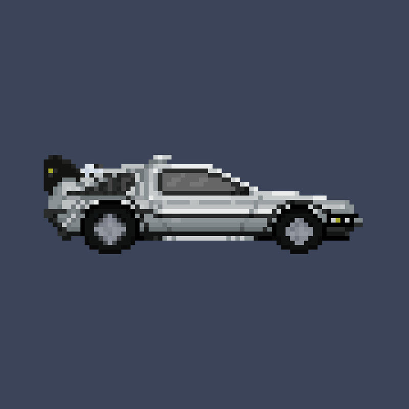 Delorean Pixel Car Back To The Future by Pixel Faces - Cloud City 7