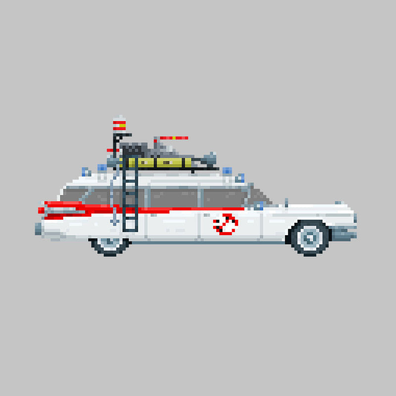 Ecto 1 Pixel Car Ghostbusters 1984 Cadillac by Pixel Faces - Cloud City 7