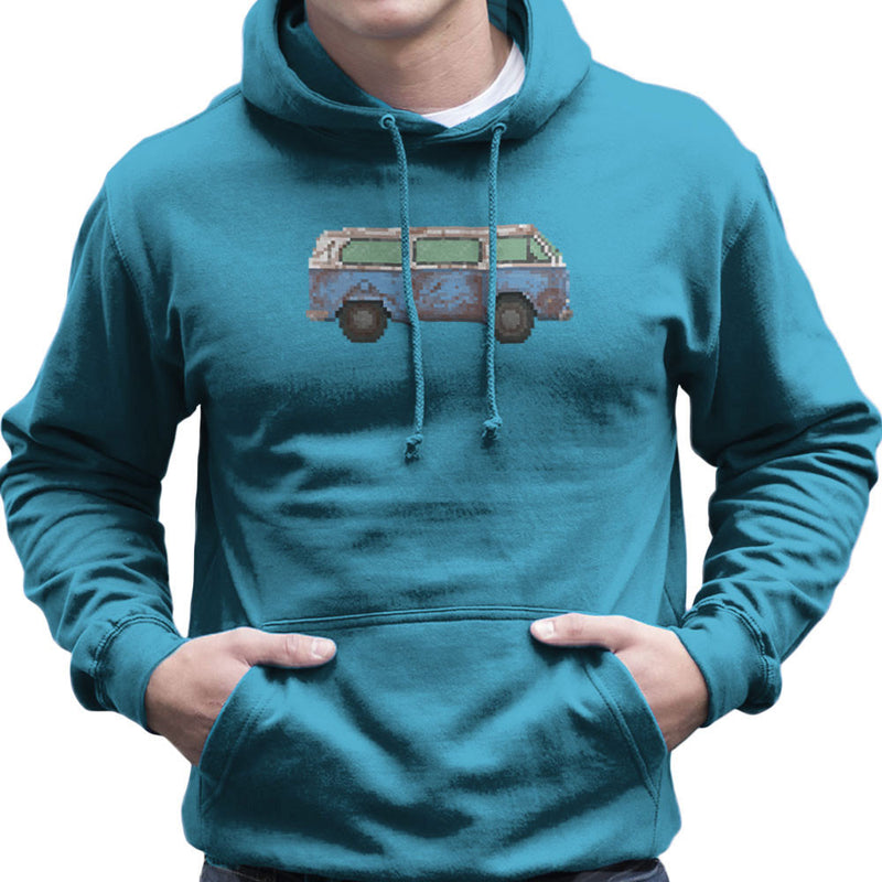 Dhama Pixel Van Volkswagen Type Two Lost Men's Hooded Sweatshirt by Pixel Faces - Cloud City 7