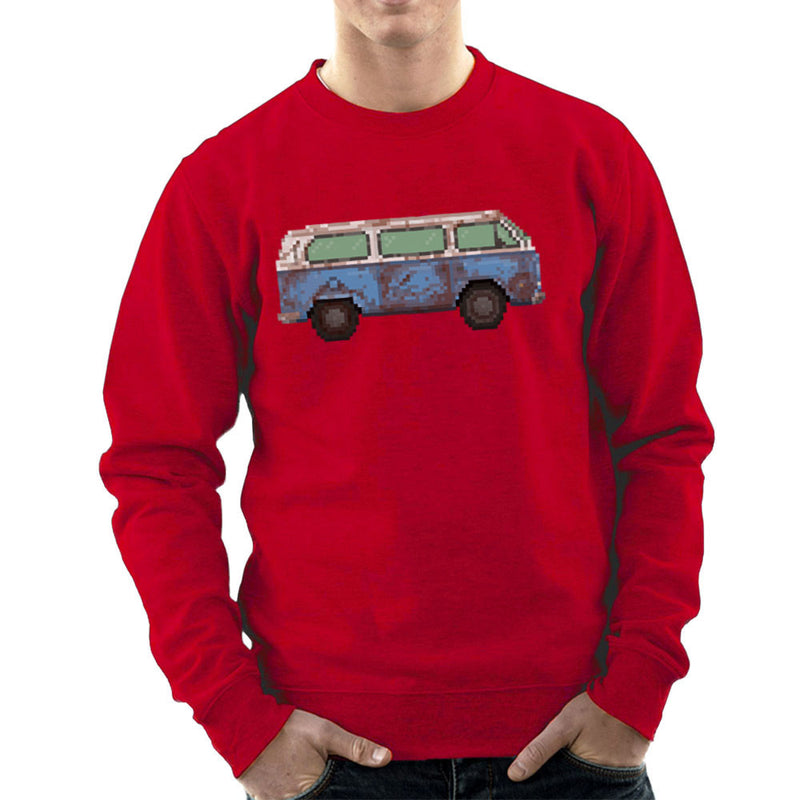 Dhama Pixel Van Volkswagen Type Two Lost Men's Sweatshirt by Pixel Faces - Cloud City 7