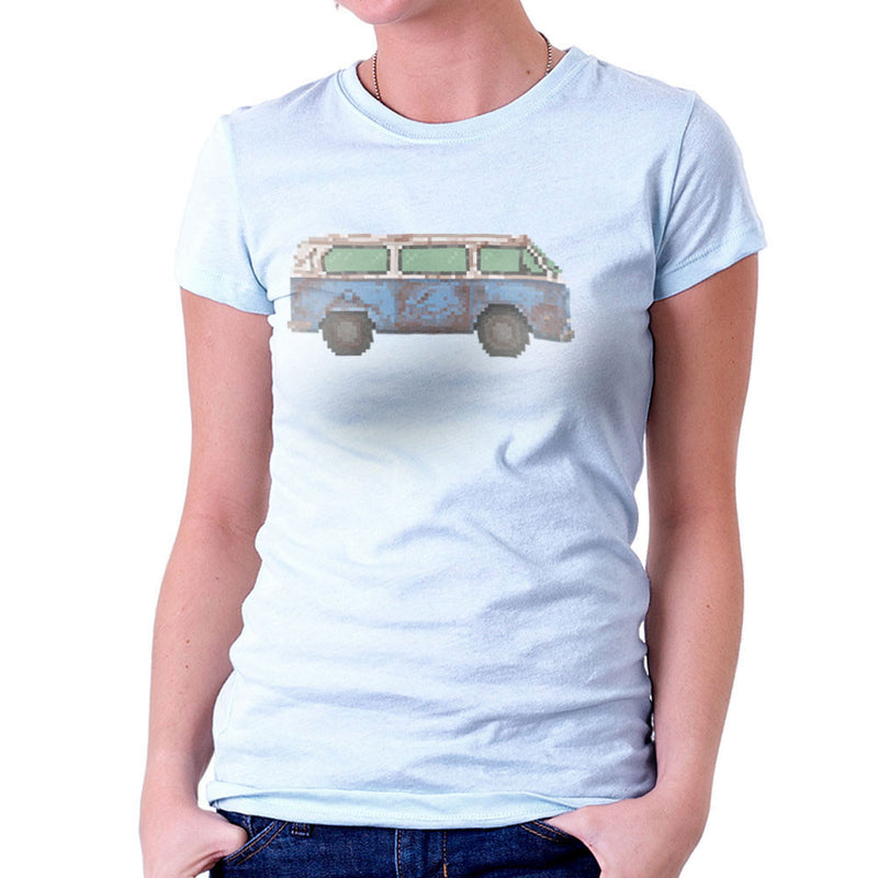 Dhama Pixel Van Volkswagen Type Two Lost Women's T-Shirt by Pixel Faces - Cloud City 7