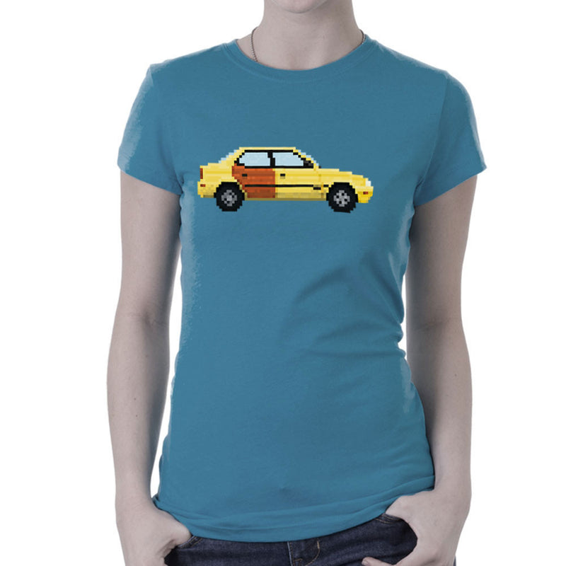 Better Call Saul Pixel Car Suzuki Esteem Women's T-Shirt by Pixel Faces - Cloud City 7