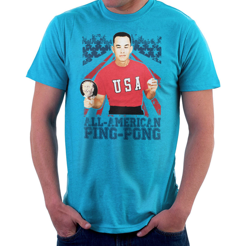 Forrest Gump All American Ping Pong Men's T-Shirt by Nova5 - Cloud City 7