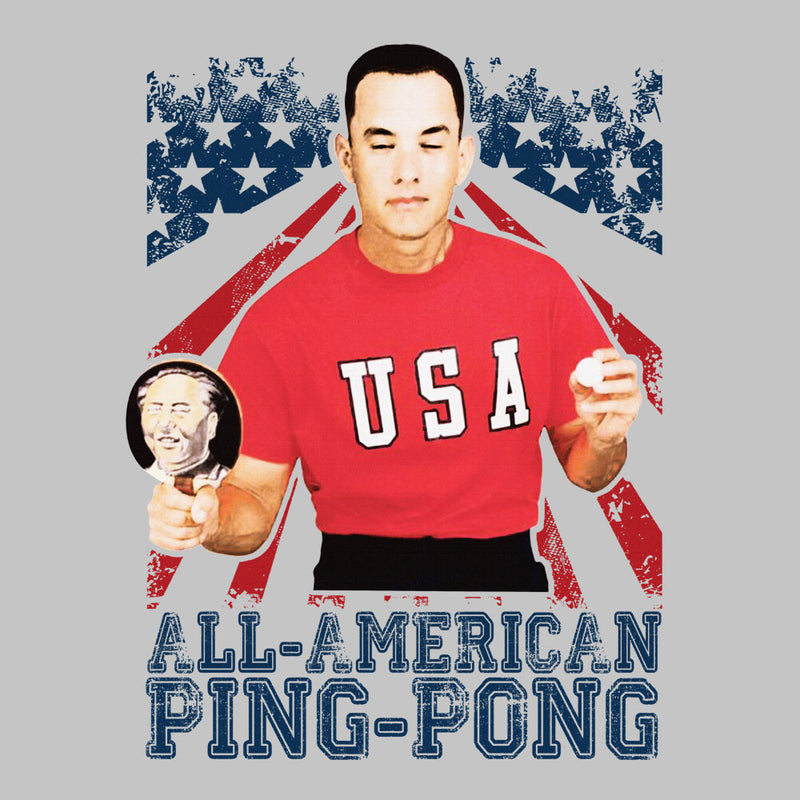 Forrest Gump All American Ping Pong Men's Sweatshirt by Nova5 - Cloud City 7