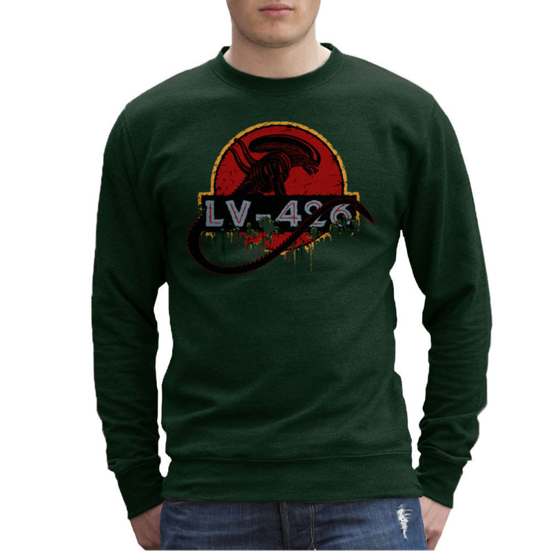 Acheron LV 426 Xenomorph Alien Jurassic Park Men's Sweatshirt by Crumblin Cookie - Cloud City 7