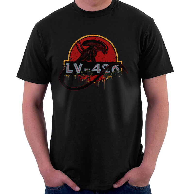 Acheron LV 426 Xenomorph Alien Jurassic Park Men's T-Shirt by Crumblin Cookie - Cloud City 7