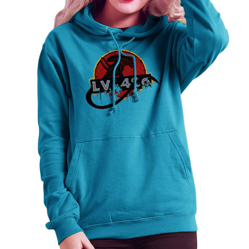 Acheron LV 426 Xenomorph Alien Jurassic Park Women's Hooded Sweatshirt by Crumblin Cookie - Cloud City 7