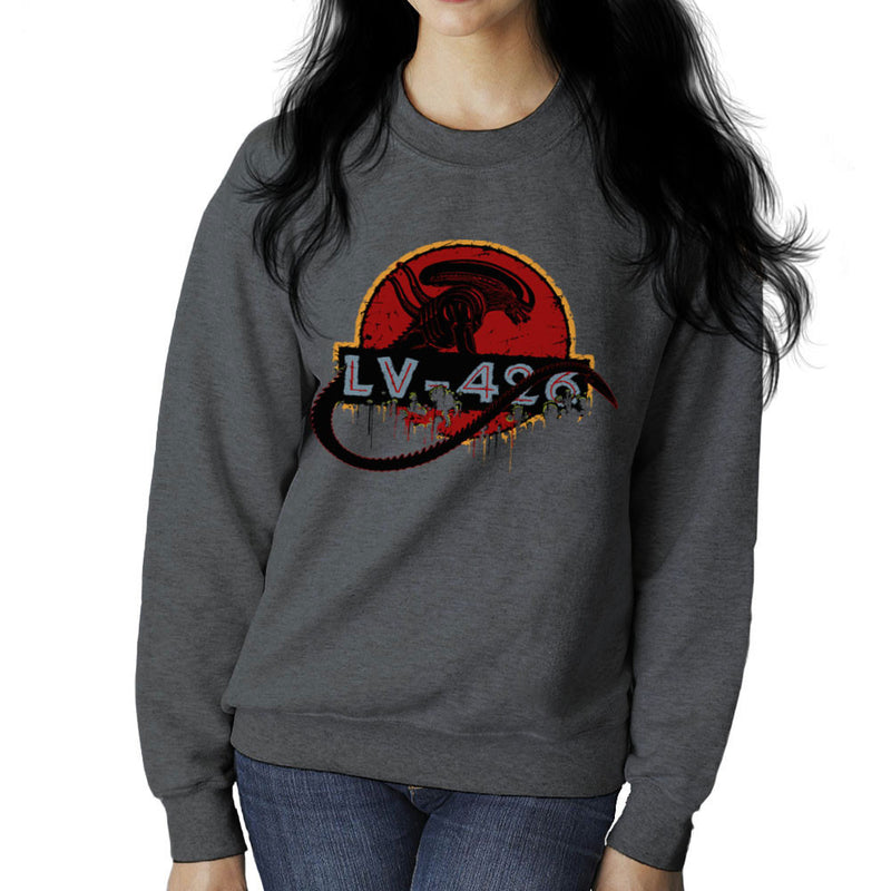 Acheron LV 426 Xenomorph Alien Jurassic Park Women's Sweatshirt by Crumblin Cookie - Cloud City 7