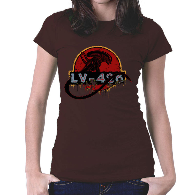 Acheron LV 426 Xenomorph Alien Jurassic Park Women's T-Shirt by Crumblin Cookie - Cloud City 7