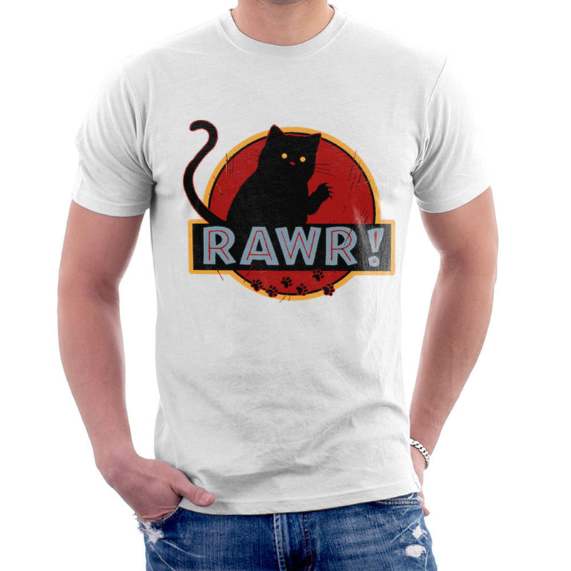 Jurassic Rawr Kitten Cat Park Men's T-Shirt by Crumblin Cookie - Cloud City 7