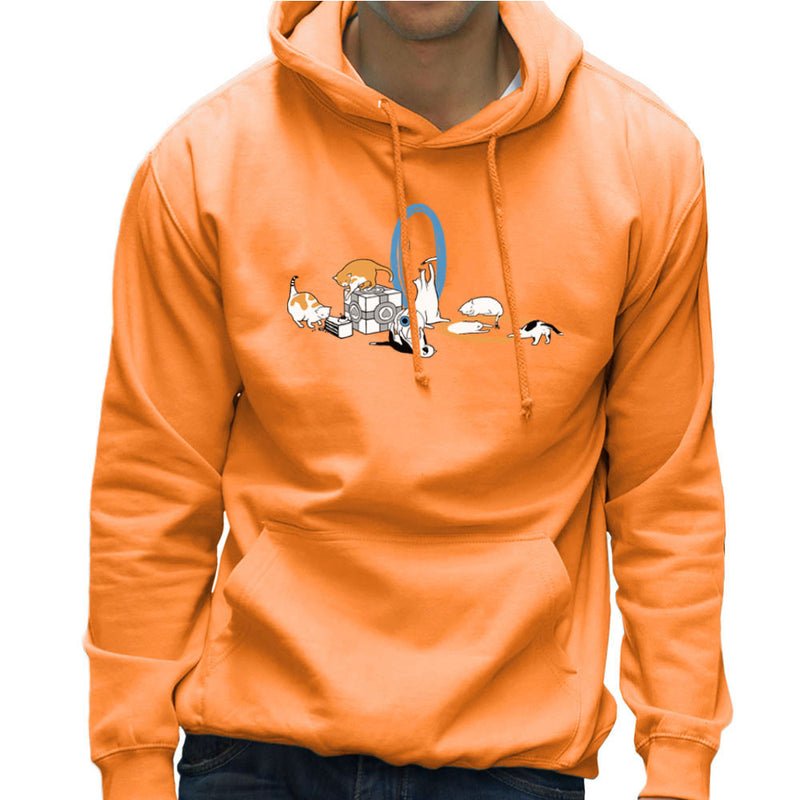 Cats Of Science Men's Hooded Sweatshirt by Crumblin Cookie - Cloud City 7