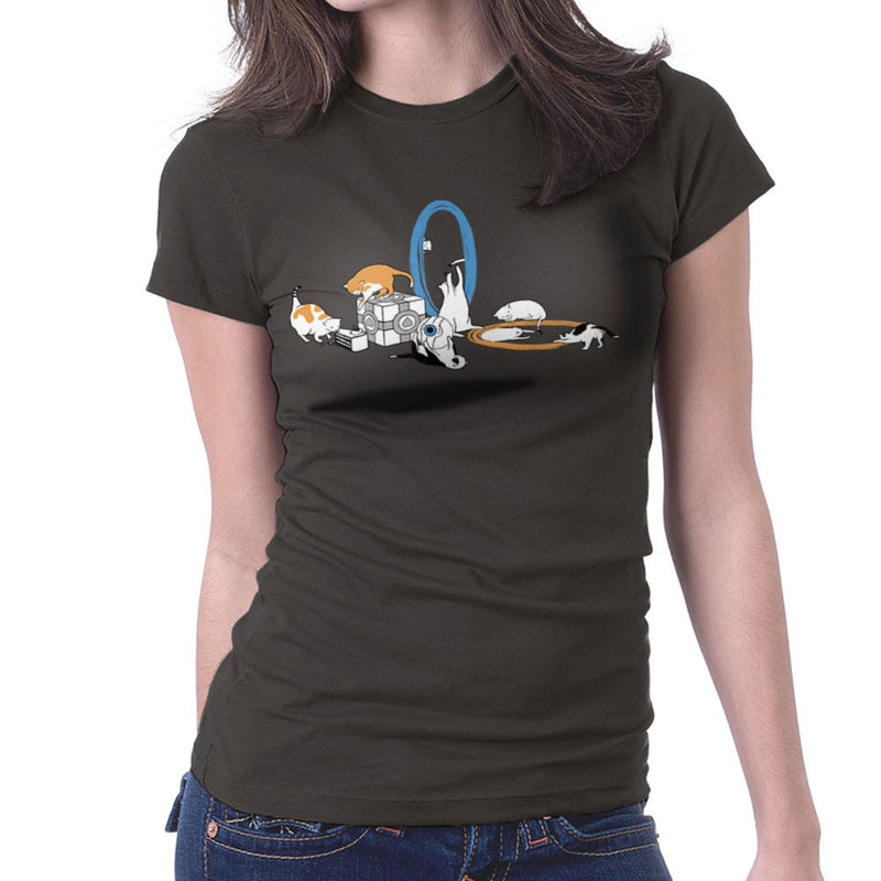 Cats Of Science Women's T-Shirt by Crumblin Cookie - Cloud City 7