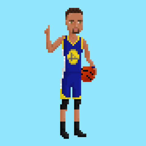 Stephen Curry Golden State Warriors NBA Pixel