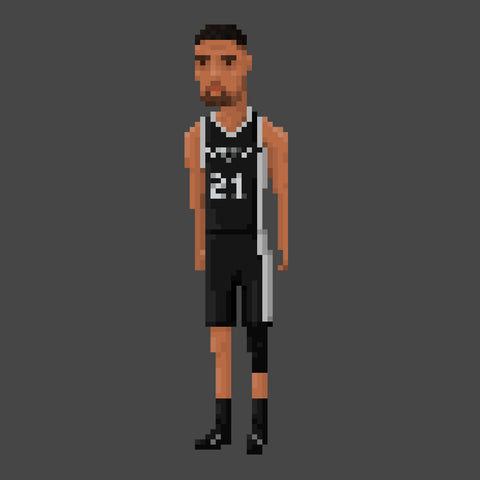 Tim Duncan San Antonio Spurs NBA Pixel