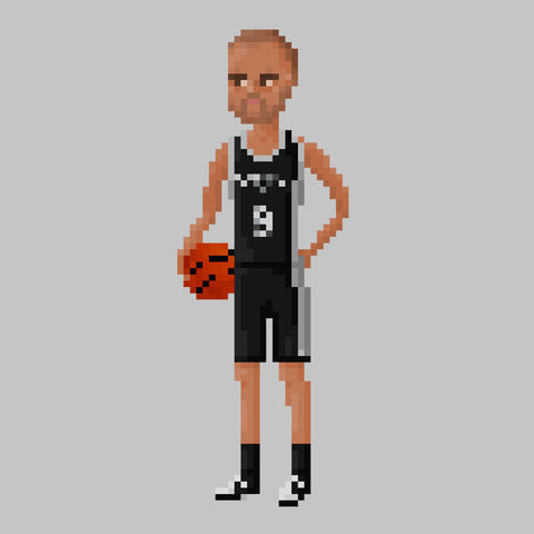 Tony Parker San Antonio Spurs NBA Pixel