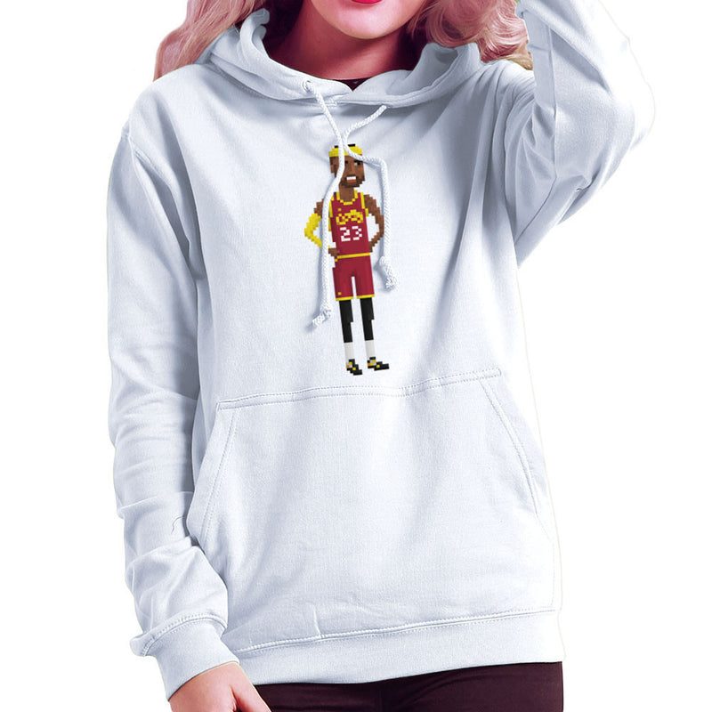 LeBron James Cleveland Cavaliers NBA Pixel Women s Hooded Sweatshirt by  Pixel Faces - Cloud City 7 ... 9554749f26