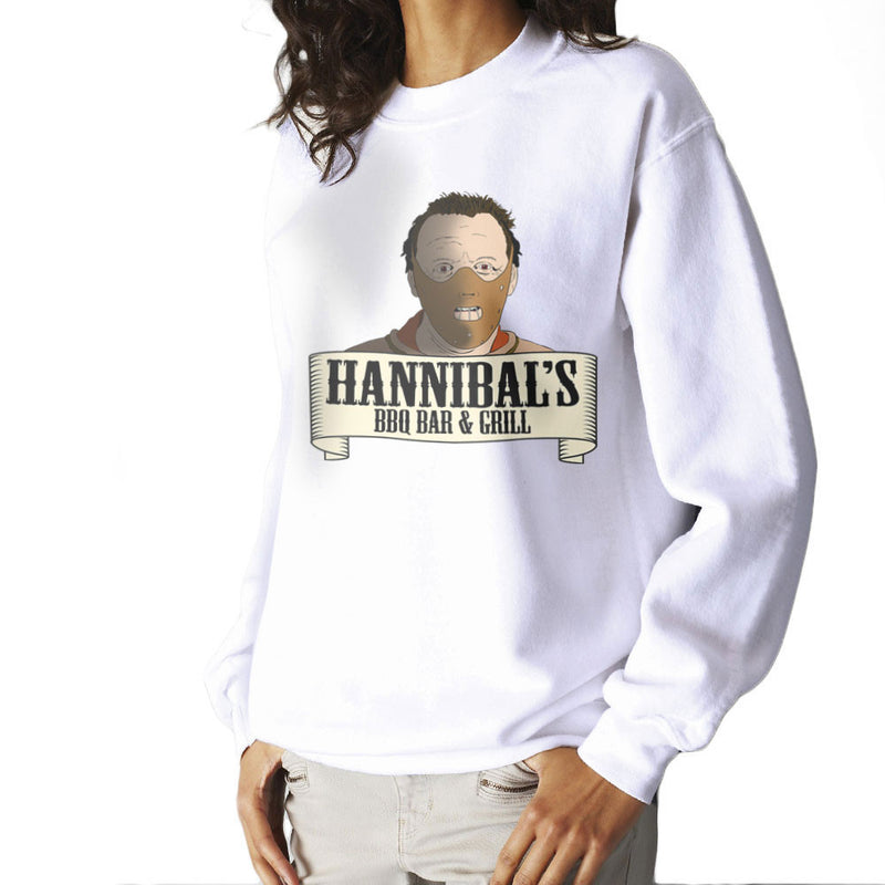 Hannibals BBQ Bar And Grill Women's Sweatshirt by Bevatron - Cloud City 7