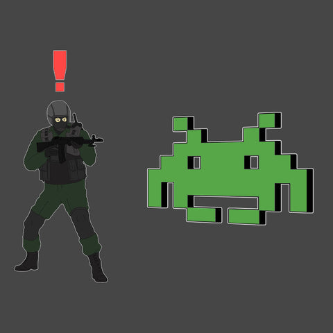 Metal Gear Solid Enemy Soldier Alert Space Invaders