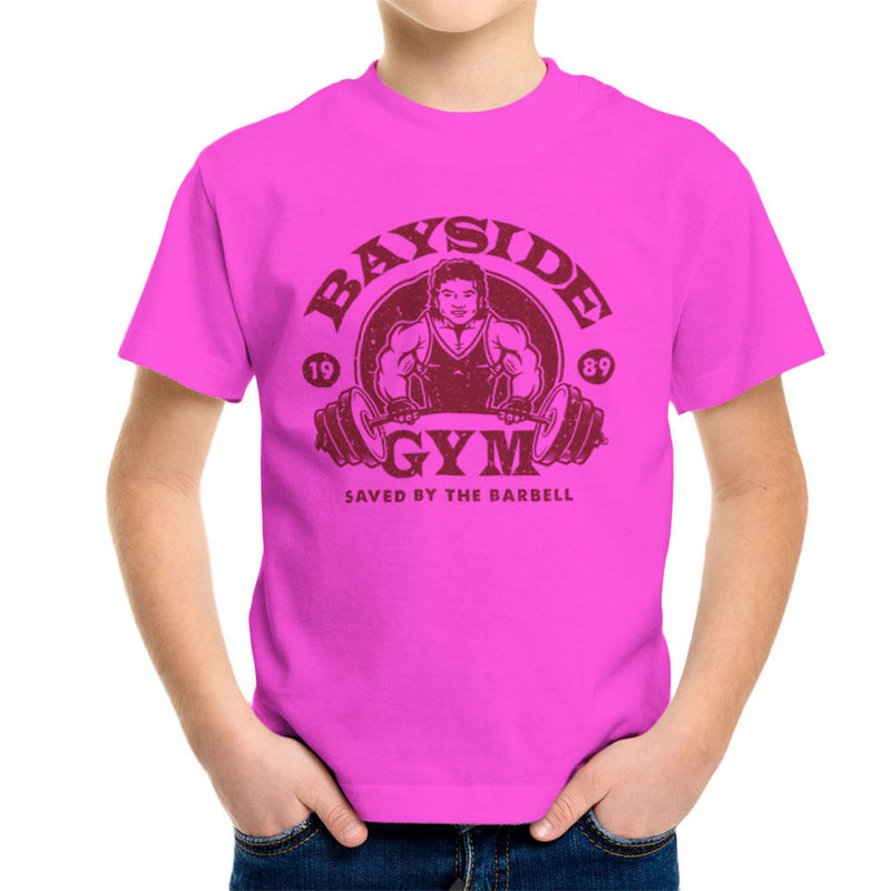 Bayside Gym Saved By The Bell A C Slater Kid's T-Shirt by Create Or Destroy - Cloud City 7
