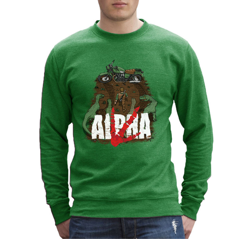 Akira Park Alpha Jurassic World Owen Men's Sweatshirt by Create Or Destroy - Cloud City 7