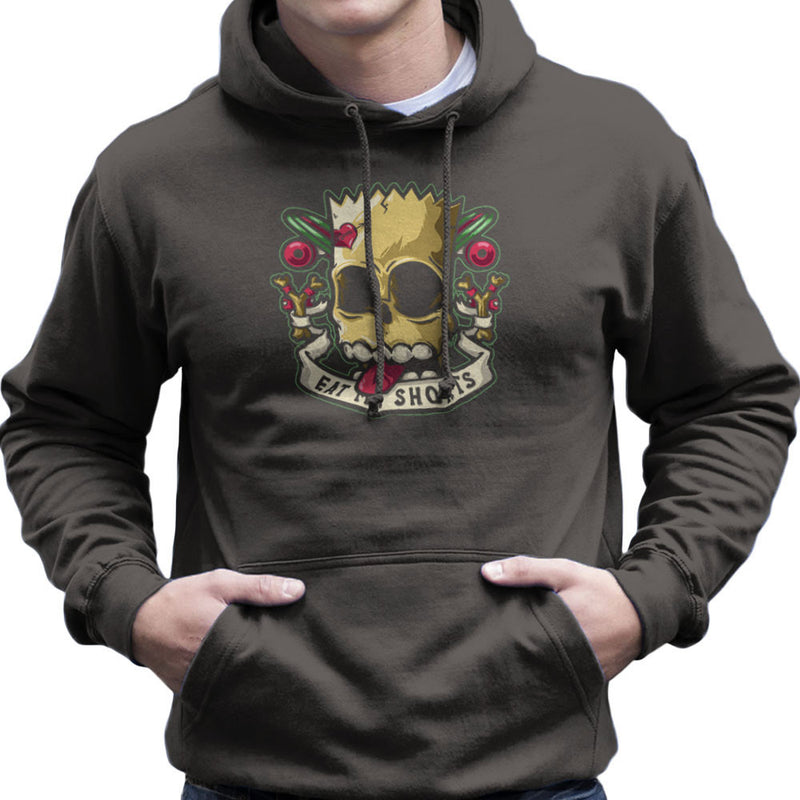 Bad To The Bone Bart Simpson Eat My Shorts Men's Hooded Sweatshirt by Create Or Destroy - Cloud City 7
