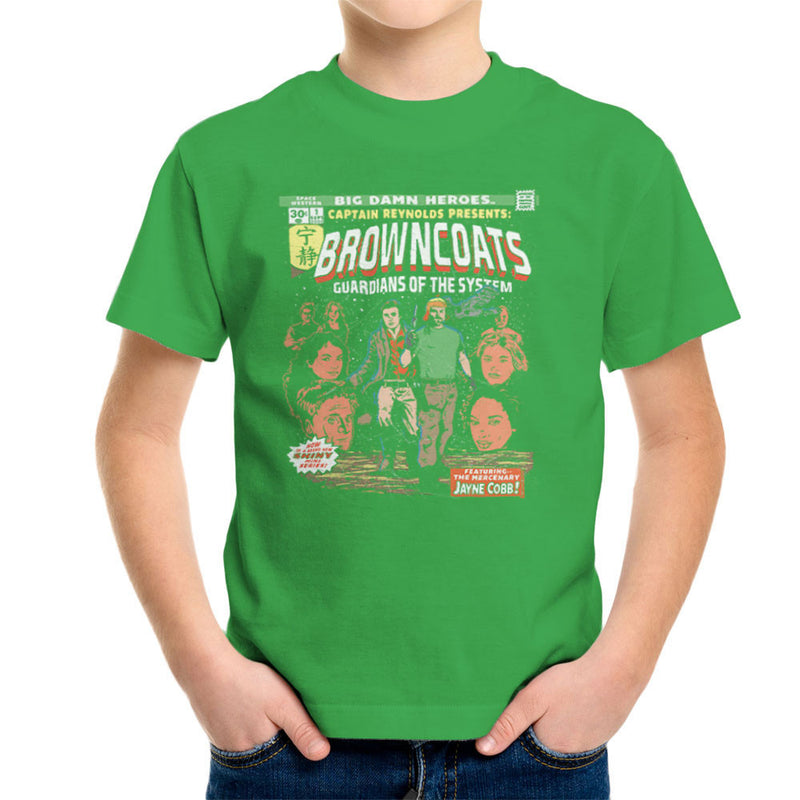 Browncoats Big Damn Heroes Firefly Serenity Comic Book Kid's T-Shirt by Create Or Destroy - Cloud City 7