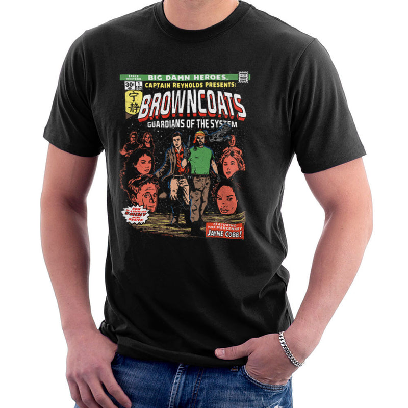 Browncoats Big Damn Heroes Firefly Serenity Comic Book Men's T-Shirt by Create Or Destroy - Cloud City 7