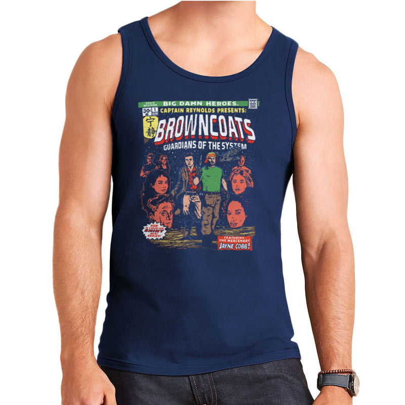 Browncoats Big Damn Heroes Firefly Serenity Comic Book Men's Vest by Create Or Destroy - Cloud City 7