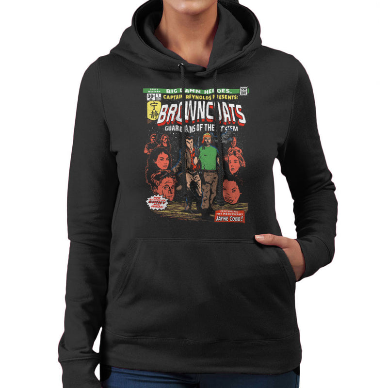 Browncoats Big Damn Heroes Firefly Serenity Comic Book Women's Hooded Sweatshirt by Create Or Destroy - Cloud City 7