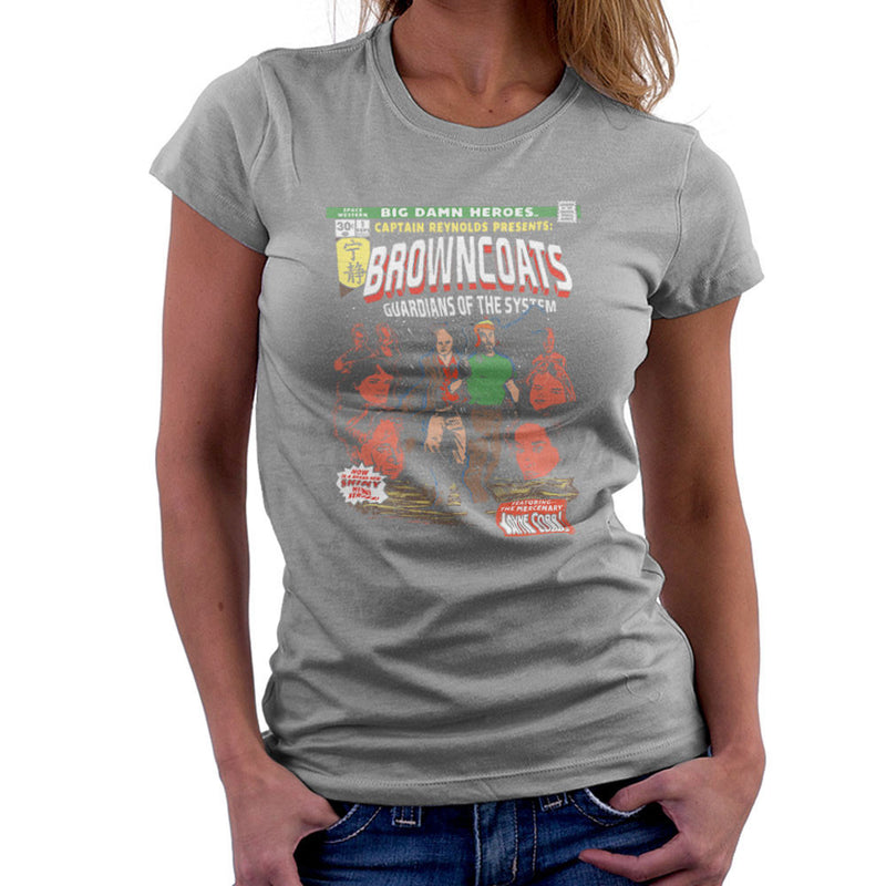 Browncoats Big Damn Heroes Firefly Serenity Comic Book Women's T-Shirt by Create Or Destroy - Cloud City 7