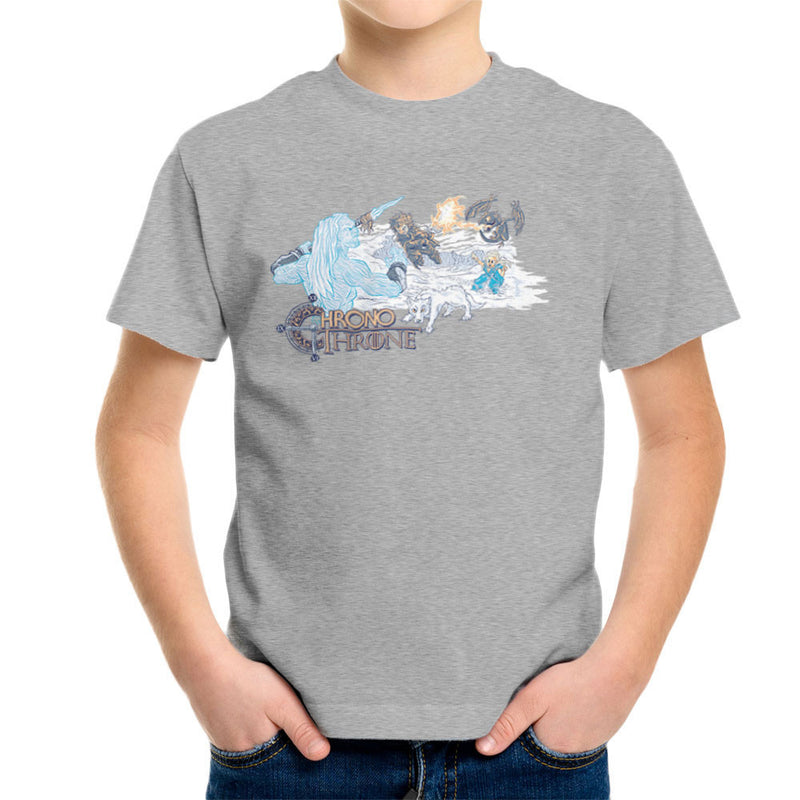Chrono Throne Game of Trigger Kid's T-Shirt by Create Or Destroy - Cloud City 7