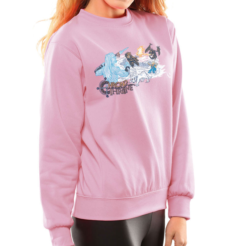 Chrono Throne Game of Trigger Women's Sweatshirt by Create Or Destroy - Cloud City 7