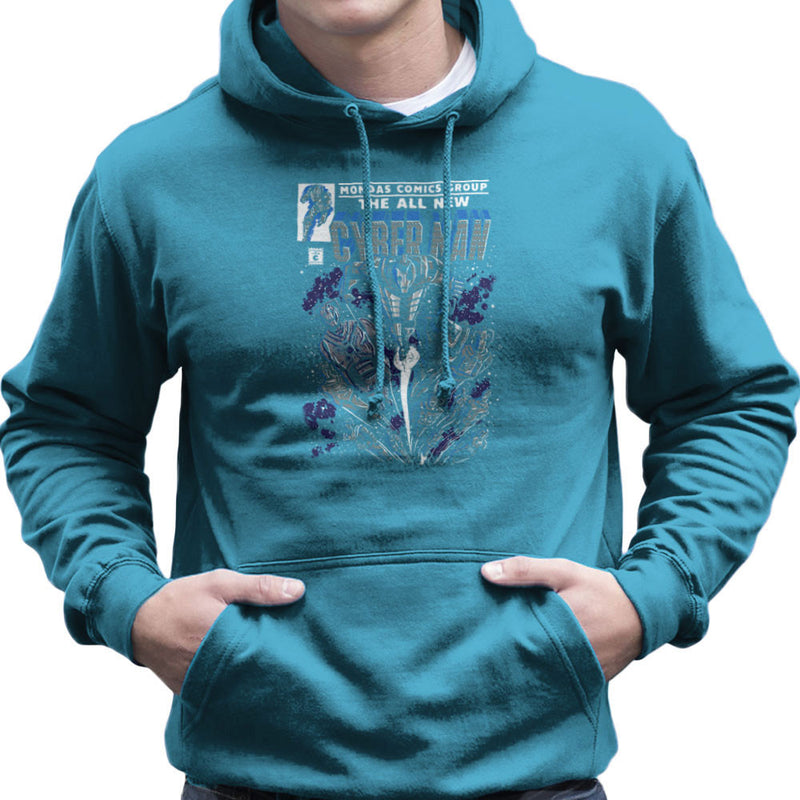 Cyberman Doctor Who Classic Comic Men's Hooded Sweatshirt by Create Or Destroy - Cloud City 7