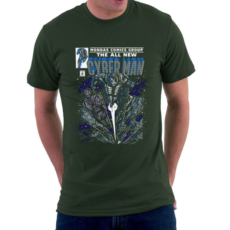 Cyberman Doctor Who Classic Comic Men's T-Shirt by Create Or Destroy - Cloud City 7