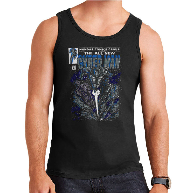 Cyberman Doctor Who Classic Comic Men's Vest by Create Or Destroy - Cloud City 7