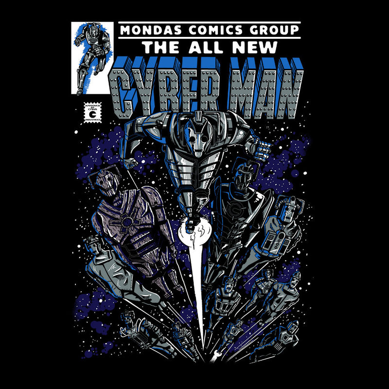 Cyberman Doctor Who Classic Comic Kid's T-Shirt by Create Or Destroy - Cloud City 7
