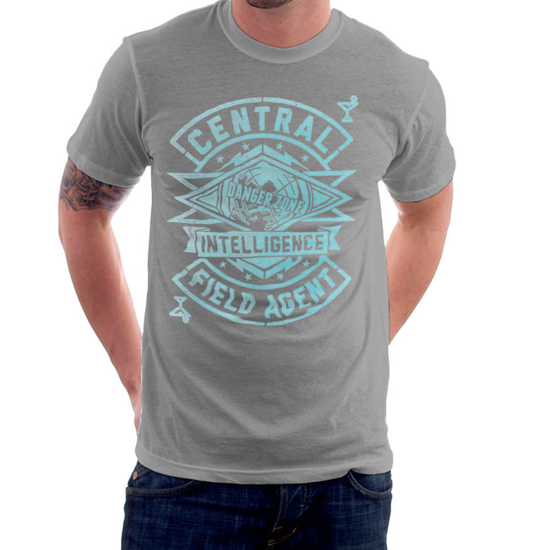 Central Intelligence Field Agent Danger Zone Archer Men's T-Shirt by Create Or Destroy - Cloud City 7