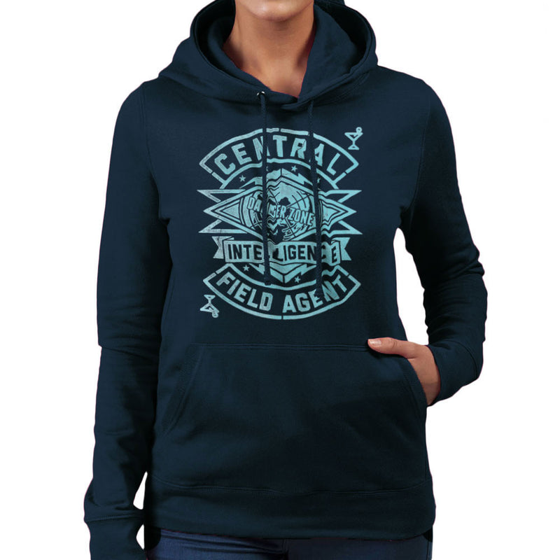 Central Intelligence Field Agent Danger Zone Archer Women's Hooded Sweatshirt by Create Or Destroy - Cloud City 7