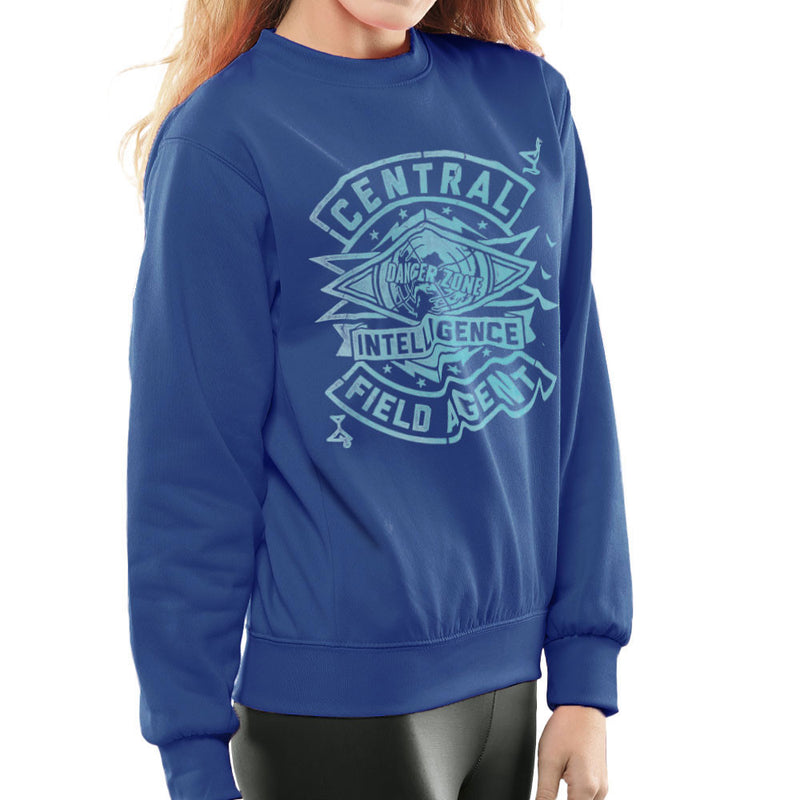 Central Intelligence Field Agent Danger Zone Archer Women's Sweatshirt by Create Or Destroy - Cloud City 7